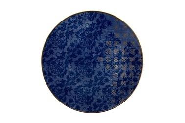 Porland Evoke Desen2 Mavi Düz Tabak 21cm Renkli